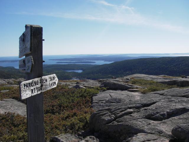 Hiking on Mount Desert Island